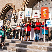 Voces de la Frontera sponsored the Day of Action, in answer to the Trump presidency. The event took place in Milwaukee, Jan 14, 2017, at the Milwaukee County Courthouse.