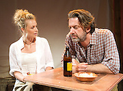Fanta Orange<br /> by Sally Woodcock <br /> directed by Gareth Machin<br /> at the Finborough Theatre, London, Great Britain <br /> 2nd Ovember 2011 <br /> press photocall<br /> <br /> Jessica Ellerby<br /> Jay Villiers<br />  <br /> <br /> Photograph by Elliott Franks