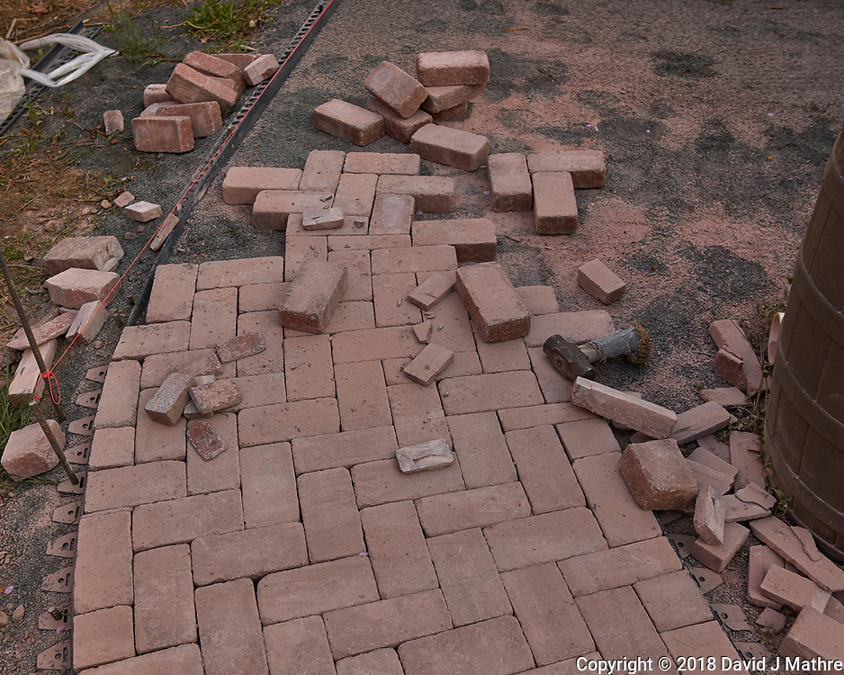 Brick Sidewalk -- Renovation in Progress. Image taken with a Leica CL camera and 23 mm lens