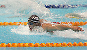 New Zealand's Moss Burmester in gold medal action in the mens 200m butterfly final during the swimming at the Melbourne Sports & Aquatic Centre during day one at the XVIII Commonwealth Games, Melbourne, Australia, Thursday, March 16 2006. Photo: Michael Bradley/PHOTOSPORT<br /><br /><br /><br />149766