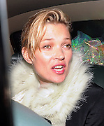 21.FEBRUARY.2011. LONDON<br /> <br /> KATE MOSS AND JAMIE HINCE LEAVING THE BOX CLUB IN SOHO AT 3.00AM LOOKING A LITTLE WORSE FOR WEAR AND ON THE WAY OUT JAMIE DECIDED TO PUNCH A PHOTOGRAPHER ROUND THE FACE WHICH THE POLICE SAW AND GRABBED HOLD OF HIM TO CALM HIM DOWN BEFORE LETTING HIM GET BACK IN THE CAR WITH KATE WHO HAD A COUPLE OF EMPTY BOTTLES OF BEER IN THE CAR SEAT.<br /> <br /> BYLINE: EDBIMAGEARCHIVE.COM<br /> <br /> *THIS IMAGE IS STRICTLY FOR UK NEWSPAPERS AND MAGAZINES ONLY*<br /> *FOR WORLD WIDE SALES AND WEB USE PLEASE CONTACT EDBIMAGEARCHIVE - 0208 954 5968*