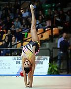 Varvara Filiou atleta della società Eurogymnica di Torino durante la seconda prova del Campionato Italiano di Ginnastica Ritmica.<br /> La gara si è svolta a Desio il 31 ottobre 2015.<br /> Varvara è un atleta di origini greche nata a Marousi nel 1994.