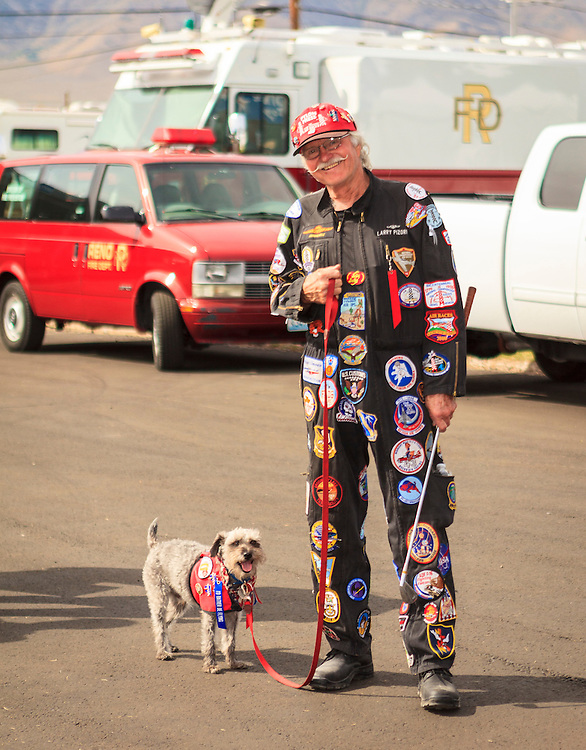 I'm told this fellow is a regular at the Reno Air Races, and always has his dog with him.