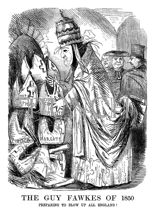 The Guy Fawkes of 1850. Preparing to blow up all England!