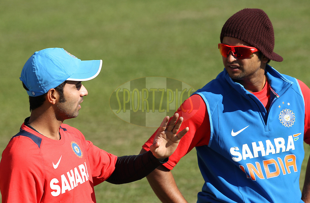 Suresh Raina of India during the Indian team practice session held at the HPCA Stadium in Dharamsala, Himachal Pradesh, India on the 26th January 2013..Photo by Ron Gaunt/BCCI/SPORTZPICS ..Use of this image is subject to the terms and conditions as outlined by the BCCI. These terms can be found by following this link:..http://www.sportzpics.co.za/image/I0000SoRagM2cIEc