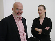 Maureen Paley and Jay Gorney, Paul Noble and Tobias Rehberger opening, Whitechapel. 9 September 2004.  SUPPLIED FOR ONE-TIME USE ONLY-DO NOT ARCHIVE. © Copyright Photograph by Dafydd Jones 66 Stockwell Park Rd. London SW9 0DA Tel 020 7733 0108 www.dafjones.com