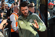 Michael Carrick (16) of Manchester United arriving at the Vitality Stadium before the Premier League match between Bournemouth and Manchester United at the Vitality Stadium, Bournemouth, England on 18 April 2018. Picture by Graham Hunt.