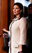Linda Herring appears on set while filming Gossip Girl at Kellari Taverna in New York City on November 30, 2009.
