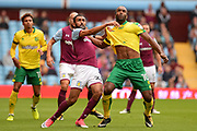 Aston Villa Aston Villa defender Ahmed Elmohamady (27) battle with Norwich City striker Cameron Jerome (10) during the EFL Sky Bet Championship match between Aston Villa and Norwich City at Villa Park, Birmingham, England on 19 August 2017. Photo by Dennis Goodwin.