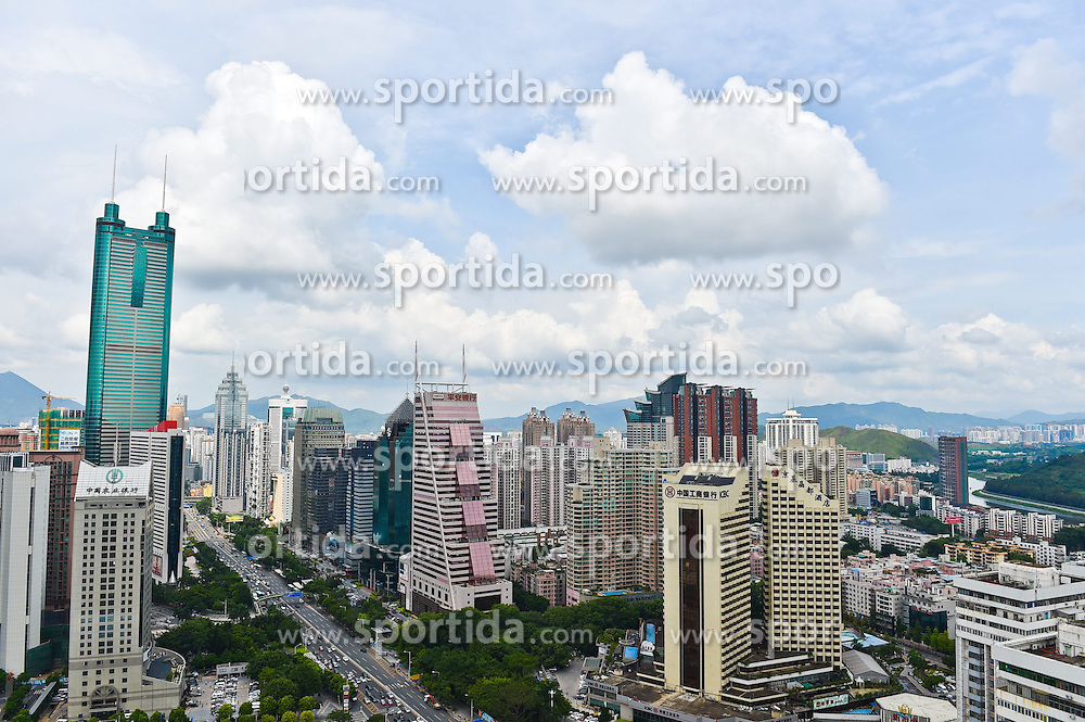 Photo taken on June 12, 2015 shows the Luohu District under blue sky in Shenzhen, south China's Guangdong Province. Many regions in China greets fine weather in recent days. EXPA Pictures &copy; 2015, PhotoCredit: EXPA/ Photoshot/ Mao Siqian<br /> <br /> *****ATTENTION - for AUT, SLO, CRO, SRB, BIH, MAZ only*****