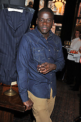 DANIEL KALUUYA at a reception hosted by Ralph Lauren Double RL and Dexter Fletcher before a private screening of Wild Bill benefitting FilmAid held at RRL 16 Mount Street, London on 26th March 2012.
