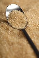 Brown sugar and spoon - close-up