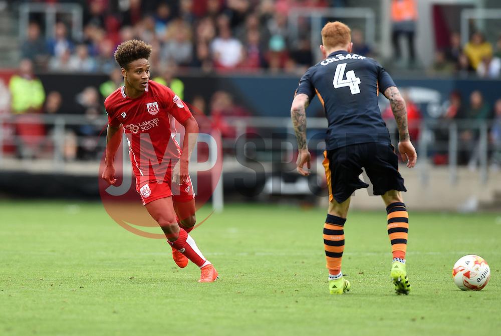 Bobby Reid of Bristol City passes the ball  - Mandatory by-line: Joe Meredith/JMP - 20/08/2016 - FOOTBALL - Ashton Gate - Bristol, England - Bristol City v Newcastle United - Sky Bet Championship