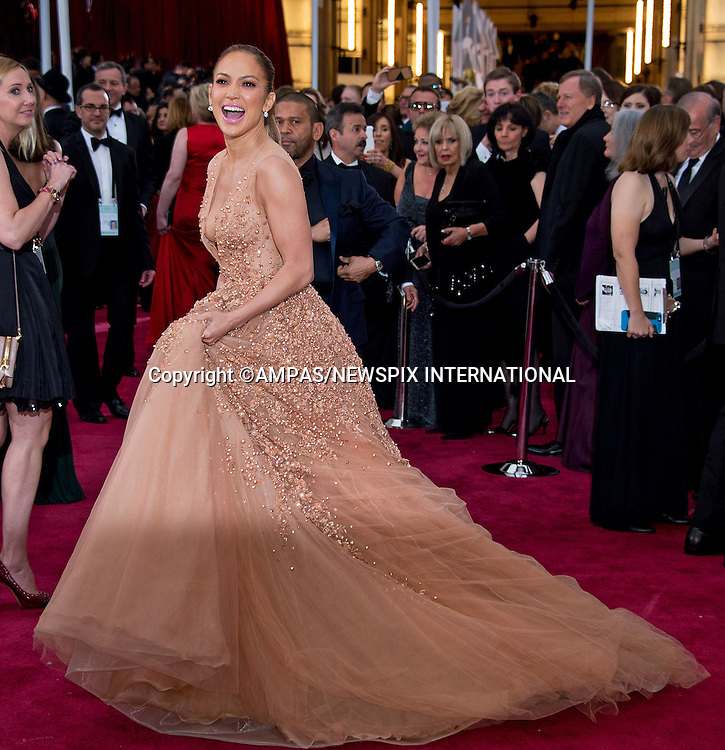 22.02.2015; Hollywood, California: 87TH OSCARS - JENNIFER LOPEZ<br /> Celebrity arrivals at the Annual Academy Awards, Dolby Theatre, Hollywood.<br /> Mandatory Photo Credit: NEWSPIX INTERNATIONAL<br /> <br />               **ALL FEES PAYABLE TO: &quot;NEWSPIX INTERNATIONAL&quot;**<br /> <br /> PHOTO CREDIT MANDATORY!!: NEWSPIX INTERNATIONAL(Failure to credit will incur a surcharge of 100% of reproduction fees)<br /> <br /> IMMEDIATE CONFIRMATION OF USAGE REQUIRED:<br /> Newspix International, 31 Chinnery Hill, Bishop's Stortford, ENGLAND CM23 3PS<br /> Tel:+441279 324672  ; Fax: +441279656877<br /> Mobile:  0777568 1153<br /> e-mail: info@newspixinternational.co.uk