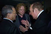MICK HUCKNALL; ANDREW NEIL, Spectator Life - 3rd birthday party. Belgraves Hotel, 20 Chesham Place, London, SW1X 8HQ, 31 March 2015