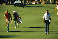 Nick Faldo Curtis Strange US Open 1988 <br /> Picture Credit:  Mark Newcombe / visionsingolf.com
