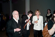 SIR PETER BLAKE; ROSE BLAKE; LADY BLAKE, Art Plus Music Party 2010. Whitechapel art Gallery.  To raise money for the gallery';s education and community programme. 22 April 2010.
