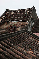 A rooftop pattern in Da Nang.  Photograph by Dennis Brack