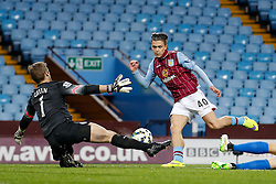 Jack Grealish of Aston Villa (making his first Premier League start) has his shot stopped by Robert Green of QPR - Photo mandatory by-line: Rogan Thomson/JMP - 07966 386802 - 07/04/2015 - SPORT - FOOTBALL - Birmingham, England - Villa Park - Aston Villa v Queens Park Rangers - Barclays Premier League.