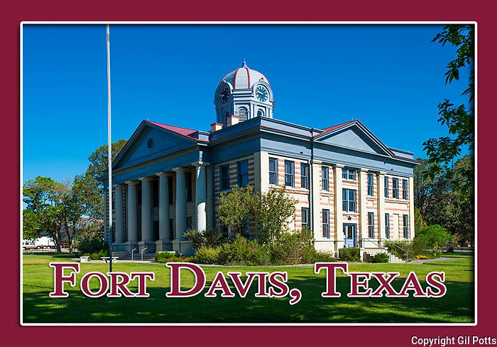 Fort Davis, Texas Souvenir magnets and postcard images by Great American Magnets.