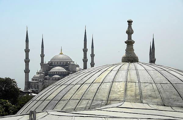 Turkije, Istanbul, 4-6-2011De blauwe moskee, in sultan ahmet.Foto: Flip Franssen