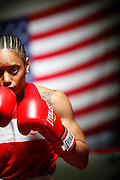 6/24/11 2:46:49 PM -- Colorado Springs, CO. -- A portrait of U.S. Olympic lightweight boxer Queen Underwood, 27, of Seattle, Wash. who will be competing for her fifth title. She began boxing in 2003 and was the 2009 Continental Champion and the 2010 USA Boxing National Champion. She is considered a likely favorite to medal at the 2012 Summer Olympics in London as women's boxing makes its debut as an Olympic sport. -- ...Photo by Marc Piscotty, Freelance.