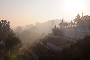The town of Pyay seen from The  Shwesandaw  pagoda ,  Pyay, Myanmar