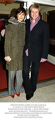 SIMON & YASMIN LE BON at a film screening in London on 18th March 2004. PSO 16