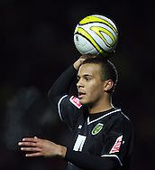 London - Wednesday, December 12th, 2008: Ryan Bertrand of Norwich City against Watford during the Coca Cola Championship match at Vicarage Road, London. (Pic by Chris Ratcliffe/Focus Images)