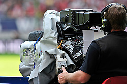 24.07.2010, Fritz-Walter Stadion, Kaiserslautern, GER, 1. FBL, Friendly Match, 1.FC Kaiserslautern vs FC Liverpool, im Bild Feature, TV, Kamera, Fernseh, EXPA Pictures © 2010, PhotoCredit: EXPA/ nph/  Roth+++++ ATTENTION - OUT OF GER +++++ / SPORTIDA PHOTO AGENCY