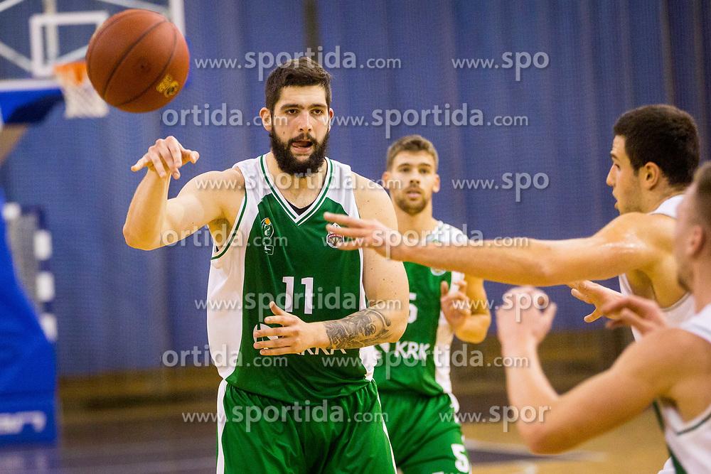 Ziga Dimec of KK Krka during basketball match between KK Ilirija and KK Krka in Round #5 of Liga Nova KBM 2017/18, on November 4, 2017 in Hala Tivoli, Ljubljana, Slovenia. Photo by Ziga Zupan / Sportida
