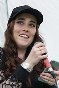 Singer Sophie McLaughlan performing at the Long Cram Jam in Haddington
