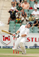 Ian Bell avoids a Wayne Parnell delivery during day 4 of the 4th Castle Test between South Africa and England held at The Bidvest Wanderers Stadium in Johannesburg, South Africa on the 17 January 2010.Photo by:  Ron Gaunt/SPORTZPICS
