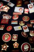 """Mao memorabilia for sale in """"Panjiayuan,"""" Beijing's weekend flea market."""