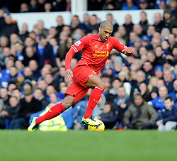 Liverpool's Glen Johnson - Photo mandatory by-line: Dougie Allward/JMP - Tel: Mobile: 07966 386802 23/11/2013 - SPORT - Football - Liverpool - Merseyside derby - Goodison Park - Everton v Liverpool - Barclays Premier League