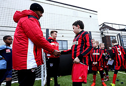 Mark Little and Luke Freeman of Bristol City hand out certificates - Mandatory by-line: Robbie Stephenson/JMP - 23/11/2016 - FOOTBALL - South Bristol Sports Centre - Bristol, England - BCCT EFL Kids Cup