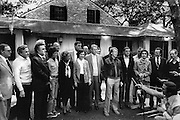 President Jimmy Carter with his wife Rosalyn, cabinet and leadership team at Sea Island, Georgia. 1977