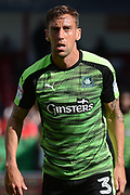 Plymouth Argyle defender Gary Sawyer (3) 1-0 during the EFL Sky Bet League 1 match between Walsall and Plymouth Argyle at the Banks's Stadium, Walsall, England on 2 September 2017. Photo by Alan Franklin.