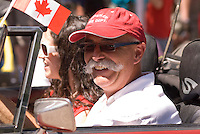 Residents of Whistler, BC, Canada dress up in all their red and white finery to celebrate the wonderful freedom of living in Canada on July 1.