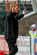 Hibernian FC Manager Neil Lennon has seen enough during the Ladbrokes Scottish Premiership match between St Mirren and Hibernian at the Simple Digital Arena, Paisley, Scotland on 29th September 2018.