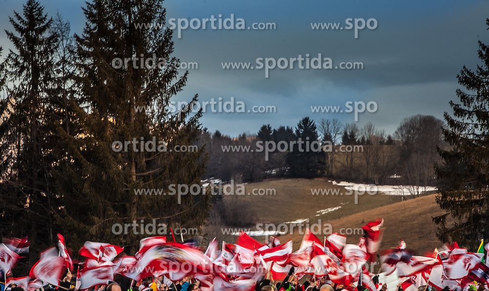 11.01.2014, Kulm, Bad Mitterndorf, AUT, FIS Ski Flug Weltcup, Bewerb, im Bild Fanfeature // Fanfeature during the FIS Ski Flying World Cup at the Kulm, Bad Mitterndorf, Austria on <br /> 2014/01/11, EXPA Pictures &copy; 2014, PhotoCredit: EXPA/ JFK