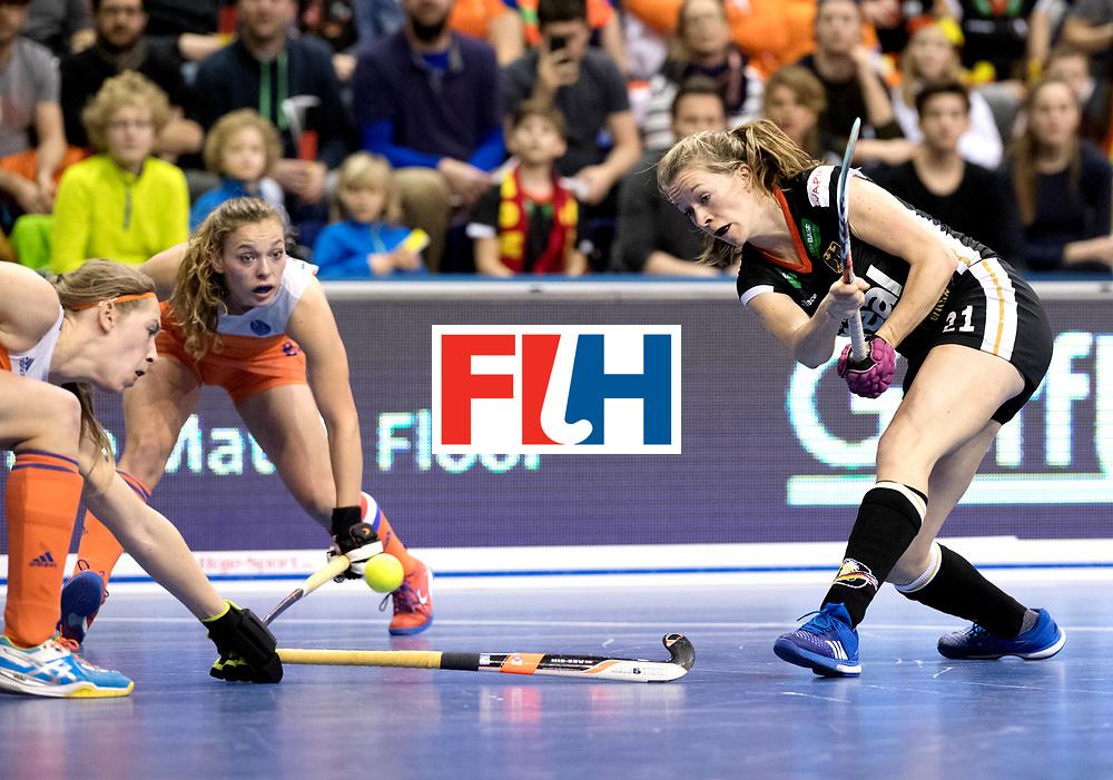 BERLIN - Indoor Hockey World Cup<br /> Final: Netherlands - Germany<br /> foto: Franzisca Hauke.<br /> WORLDSPORTPICS COPYRIGHT FRANK UIJLENBROEK