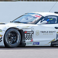 #888, BMW Z4 GT3, Triple Eight Racing, driven by Lee Mowle and Joe Osbourne, 03/05/2015. British GT Championships at Rockingham