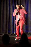 ORLANDO, FL - AUGUST 14:  Celebrity impersonator Joe Manuella performs during the Sunburst Convention of Celebrity Tribute Artists in Orlando, Florida, August 14, 2009. The annual convention offers the artists an opportunity to perform for agents and other talent buyers. (Photo by Matt Stroshane/Getty Images)