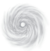 A vector illustration of the eye of a hurricane