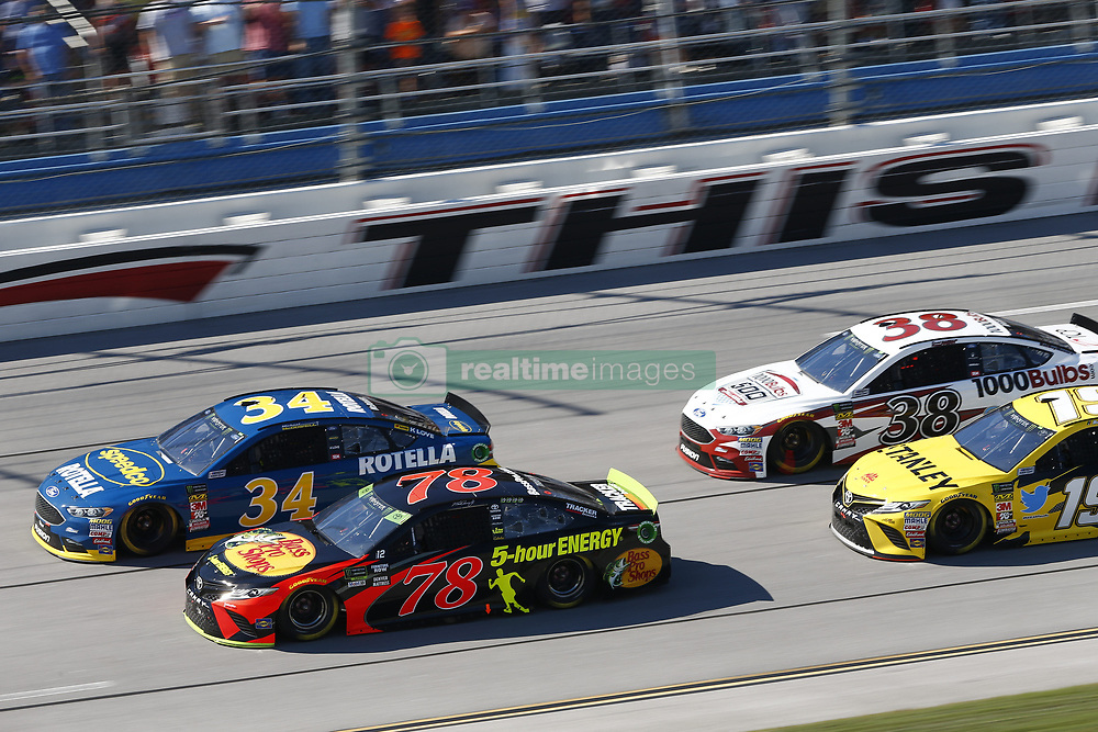 October 14, 2018 - Talladega, Alabama, United States of America - Martin Truex, Jr (78) battles for position during the 1000Bulbs.com 500 at Talladega Superspeedway in Talladega, Alabama. (Credit Image: © Justin R. Noe Asp Inc/ASP via ZUMA Wire)