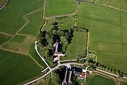 Nederland, Groningen, Gemeente Zuidhoorn, 08-09-2009; Frytum, boerderijen op het platteland in Westerkwartier, een van de Groninger Ommelanden..Farms in the rural Westerkwartier, Groningen countryside..luchtfoto (toeslag); aerial photo (additional fee required); .foto Siebe Swart / photo Siebe Swart