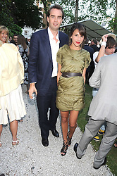 FRITZ VON WESTENHOLZ and CAROLINE SIEBER at the Tatler Summer Party, The Hempel Hotel, 31-35 Craven Hill Gardens, London W2 on 25th June 2008.<br />