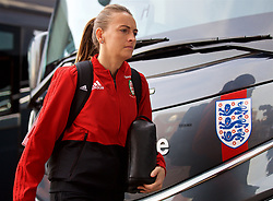 SOUTHAMPTON, ENGLAND - Friday, April 6, 2018: Wales' Kayleigh Green arrives before the FIFA Women's World Cup 2019 Qualifying Round Group 1 match between England and Wales at St. Mary's Stadium. (Pic by David Rawcliffe/Propaganda)
