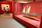 "Linz, Austria. Schlossmuseum (Castle Museum).<br /> Marco Polo exposition ""Von Venedig nach China (From Venice to China)"".<br /> Model of a galley, Venice, 17th century."